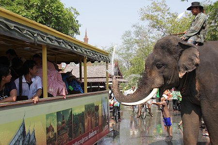 During Songkran, most shops are open & transport running, but…