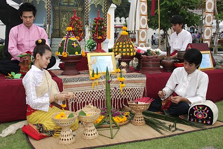 Celebrate Songkran today at Nakaphirom Park and Wat Pho in Bangkok