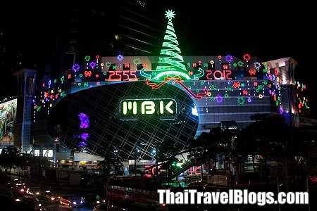 the christmas decorations in thailand usually go