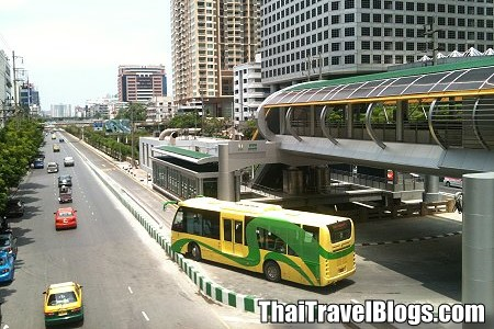 5 Baht Flat Fare for the BRT Buses in Bangkok