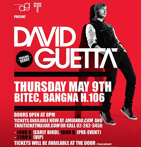 David Guetta Live in Bangkok on 9th May 2013