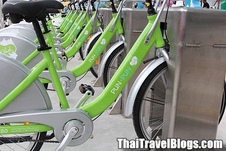 Map and Guide to using Bangkok's Bicycle Rental System