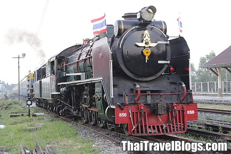 Riding the Steam Train in Thailand