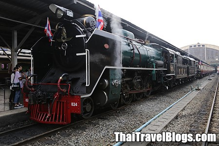 Next Steam Train Trip in Thailand on 12 August 2014