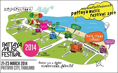 Pattaya Music Festival is from 21-23 March 2014