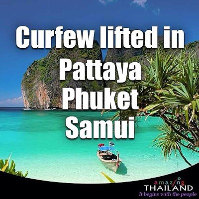 No More Curfew in Pattaya, Phuket and Samui