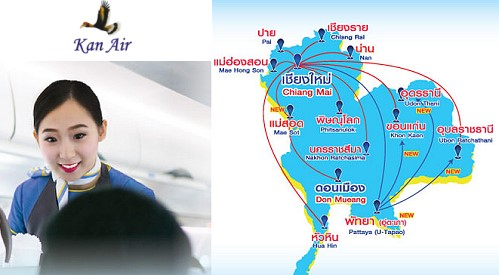 Kan Air to Operate Four Routes out of U-Tapao Airport