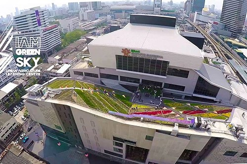 Siam Green Sky Is The Largest Urban Rooftop Garden In Bangkok Thai Travel News Events