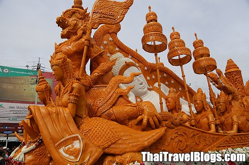 Suphanburi Candle Festival from 30 July to 1 August 2015