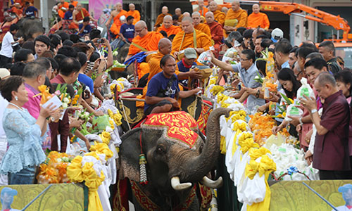 Surin Wax Candle Procession and Merit Making on Elephants Back