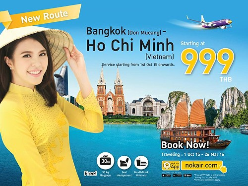Nok Air Launches New Route from Bangkok to Ho Chi Minh city