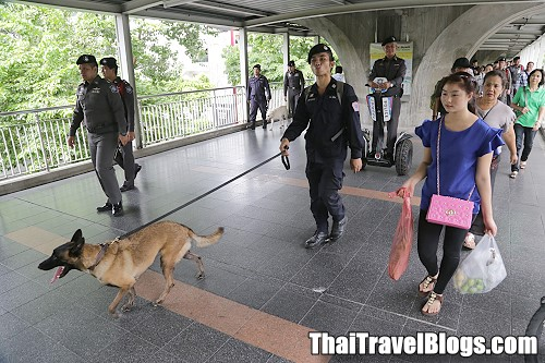 Heightened security at tourist spots across Bangkok