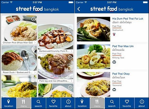 "New ""Street Food Bangkok"" app launched for smart phones"