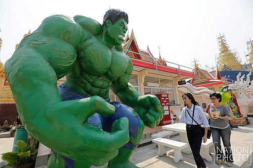 Life sized Superheroes at Thai Temples
