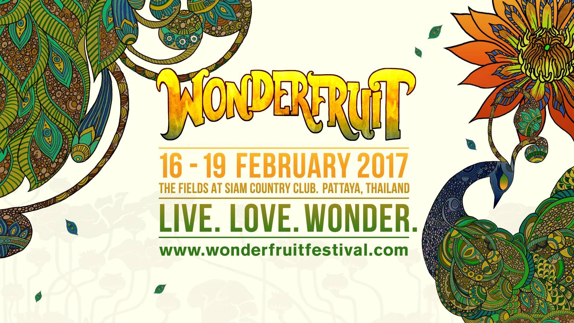 Wonderfruit Festival from 16-19 February 2017 in Pattaya