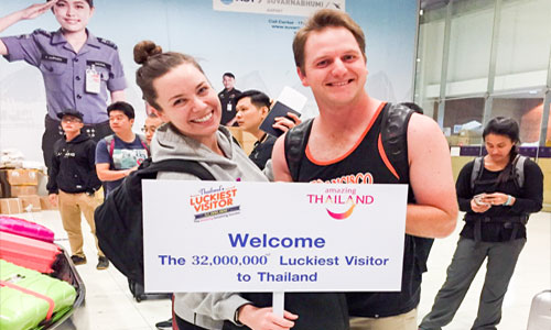 A record breaking 32 million visitors have arrived in Thailand so far this year