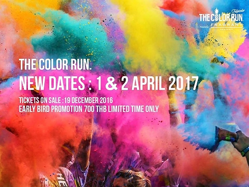 The Color Run returns to Bangkok 1-2 April 2017