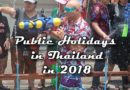 Public holidays in Thailand during 2018